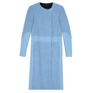 Tibi powder blue long panda coat